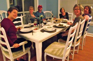 Dinner with Write by the Water retreaters